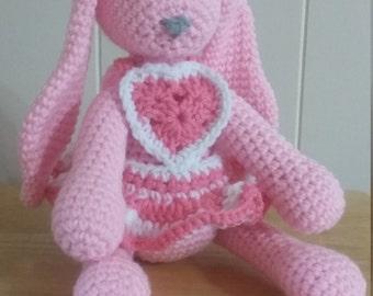 Custom Handmade Crochet Rabbit, Stuffed Animal, Crochet Animal, Amigurumi