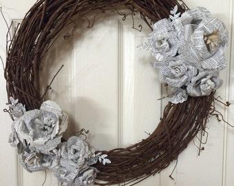 Book wreath
