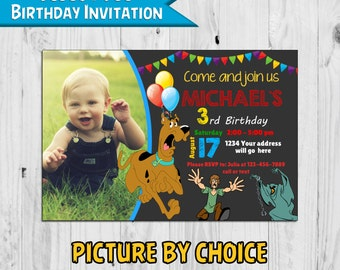 Scooby Doo Birthday Invitation Inspired - Printable - Digital - Personalized