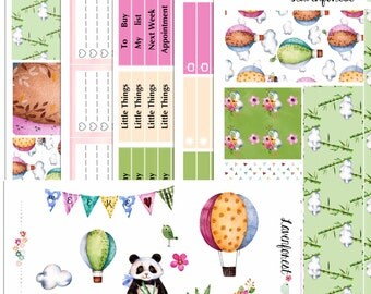panda planner stickers kit, happy planner sticker, panda stickers, stickers panda, stickers for use with ERIN CONDREN LIFEPLANNER™ ,  Sk007