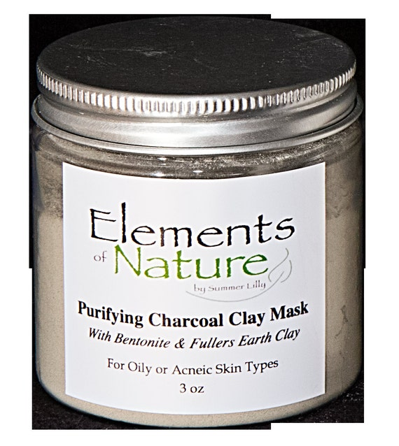 Bentonite Clay And Activated Charcoal Face Mask: Purifying Charcoal Clay Mask