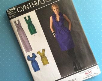 Sewing Pattern - Cynthia Rowley K2497 - Dressmaking Pattern - Multi Size 12-20 Party Dress Pattern