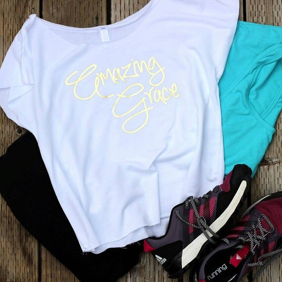 Amazing Christmas Gifts For Her: Amazing Grace Christian T Shirts For Women By GaffrenGraphics