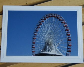 Photo Greeting Card | Handmade Card | Blank Card | Photo Note Card | Photography Card | Blank Photo Card | Chicago Ferris Wheel | Navy Pier
