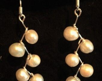 Fresh water pearl chandelier earrings