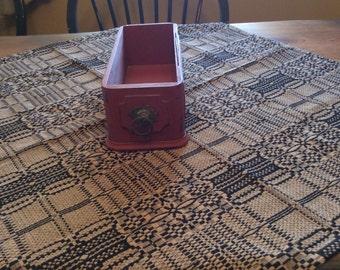 Vintage sewing machine drawer