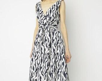 Suzy Perette Navy Zebra Garden Party Dress