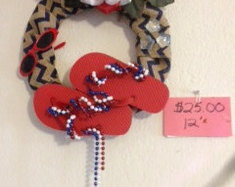 American Fun Wreath