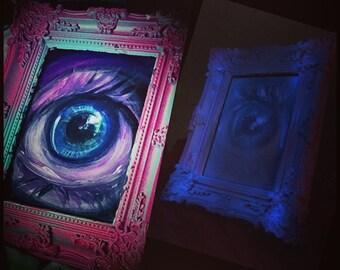 Glow in the Dark Eye Painting