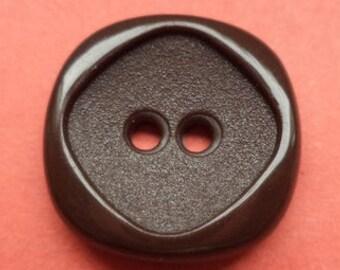 12 dark brown buttons 16mm (239) button Brown