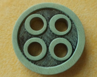 10 buttons 20mm turquoise Brown (691) button