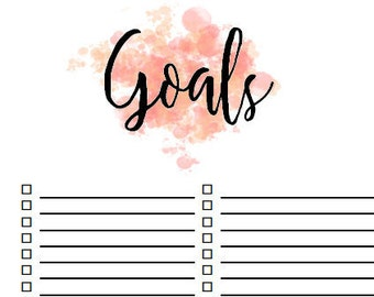 Printable Goals Planner Insert Page