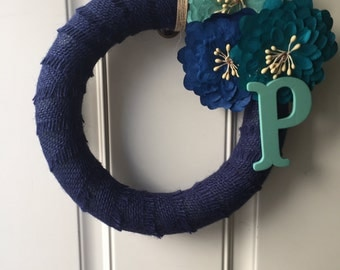 Customized ribbon wreaths