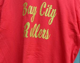 Bay City Rollers Gold Glitter T-shirt