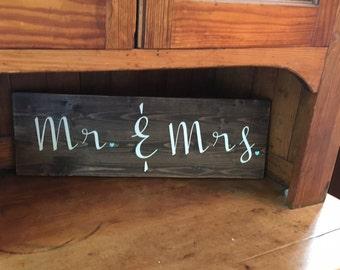 Mr & Mrs Sign/ Wedding Decor/ Home Decor/ Custom Made