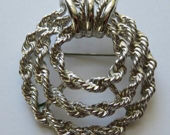 Vintage Monet Brooch Silver Tone Monet Pin Vintage Jewelry Brooch Costume Jewelry Pin Silver Tone Jewelry Pin Monet Jewelry Vintage Brooch