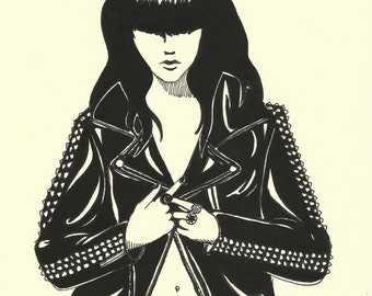 Leather - Original Drawing