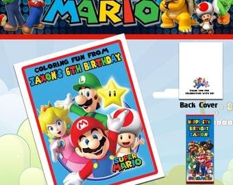 Super Mario Coloring Book with Crayons