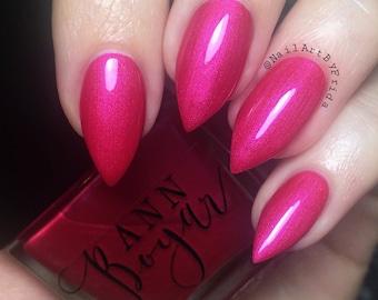 PINK ELEPHANT - Hot Pink Nail Polish, Luxury Nail Polish, Nail Lacquer, Vegan Nail Polish, Shimmer Nail Polish, Organic Teen Gifts, AnnBoyar