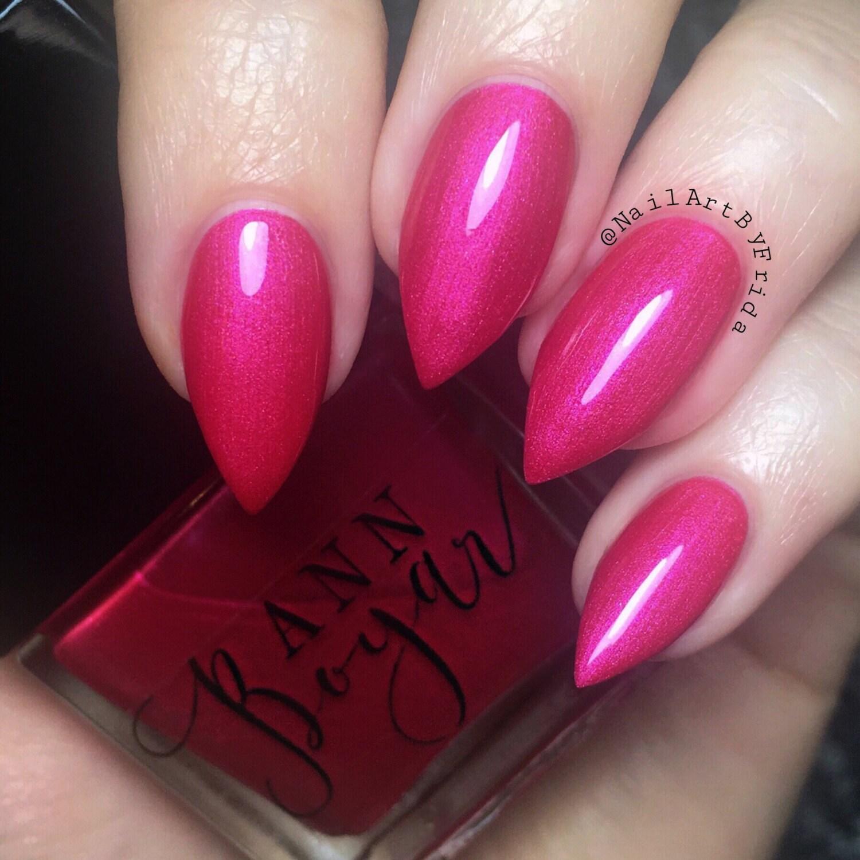 Hot Pink Nail Polish, Luxury Nail Polish