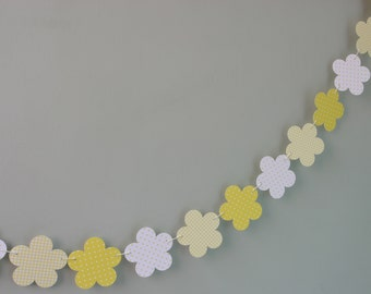 Wedding Garland, Flower Bunting, Banner, Bridal Shower, Baby Shower, Wedding Decor, Polka Dots, Gingham