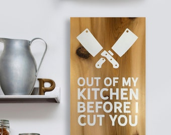 Painted wooden kitchen sign, gifts for chefs, chef gifts, funny kitchen signs, kitchen decor, cooks gifts, gifts for cooks, funny quote sign