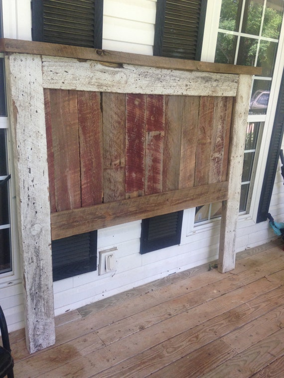 reclaimed queen barnwood headboard by whathappensinthebarn on etsy. Black Bedroom Furniture Sets. Home Design Ideas