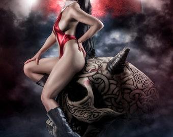 Vampirella Signed A4 Print.