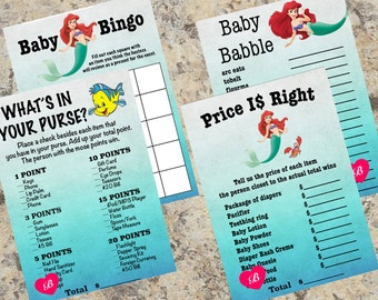 The Little Mermaid Baby Shower Games