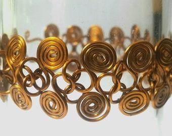 Wire spiral bracelet.