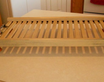 Farmhouse Wood Serving Tray Primitive Colonial Kitchen Bathroom Coffee Table