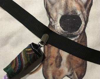 Poo-bag pouch - Beautiful Koori artwork fabric. - NO POSTAGE! until Sep 2nd!