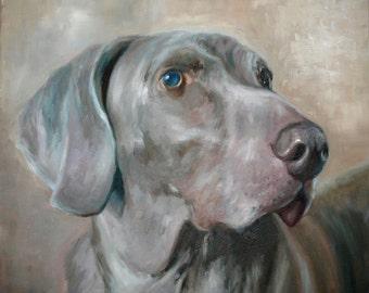 Art Commission, Pet Portrait, Custom Pet Portrait on Canvas from Photograph by Roger Pan
