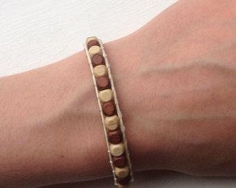 Wood Beads Bracelet, Wooden Beads Bracelet