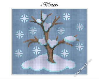 Winter - Cross Stitch Pattern PDF - Instant download
