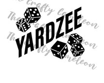 Yardzee FILE BUNDLE, score card / sheet, decal / logo for bucket, dice stencil, SVG, Vector, Graphic files, Silhouette Studio file