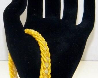Lovely Yellow Beaded Bracelet