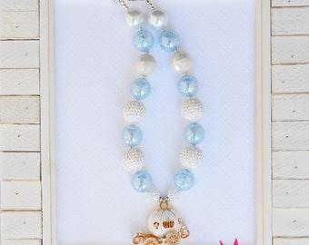Carriage Chunky Bead Necklace; Cinderella; Princess