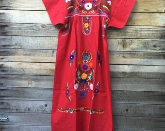 Women's mexican dress - mexican dress - womens mexican dresses - red