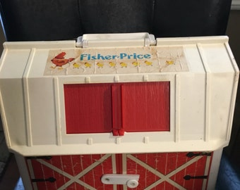 Fisher Price Little People Family Farm Barn 1986, Vintage toy
