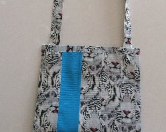 White Tiger Duct Tape Purse