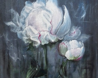 Original Artwork Flower Acrylic Painting