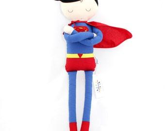 POUPEE Superman coton fait main