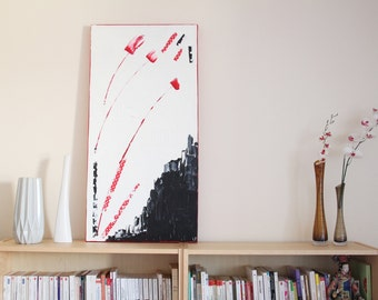 Table Art Original abstract contemporary modern Abstract Painting 100x50cm acrylic paint