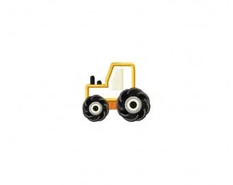 Tractor applique design, tractor embroidery design, applique tractor design, farm applique design, embroidery design farm