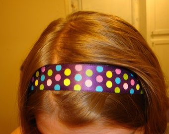 Handmade Purple Polka-dotted Headband