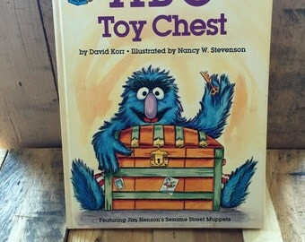 "Vintage Sesame Street Book Club - ""ABC Toy Chest"" 1981 / Written by David Korr / Illustrated by Nancy Stevenson / Jim Henson"