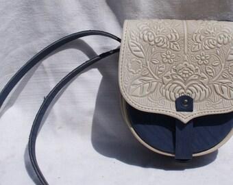 Leather bag, Ladies handbag, Designer bag, Leather bag embossed, Handbag