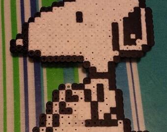 Snoopy Perler Bead Sprite