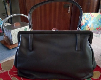 lovely bag vintage 1950 s leather! old stock